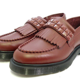 "Dr.Martens - APPLIQUE HONOKA STUDDED LOAFER""CHERRY RED"