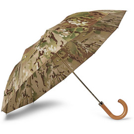 London Undercover - Camouflage-Print Maple-Handle Collapsible Umbrella