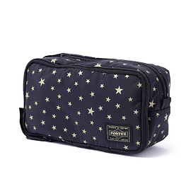 "HEAD PORTER - ""STELLAR (NEW)"" GROOMING POUCH BLACK"