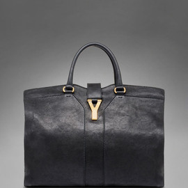 Yves Saint Laurent - Large YSL Cabas Chyc in Black Leather