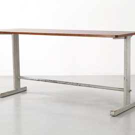 Jean Prouve - large Cite table N°500, ca 1953