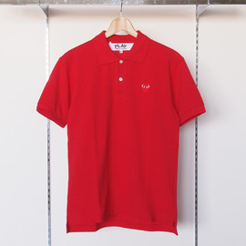 PLAY COMME des GARCONS - 綿鹿の子(赤エンブレム)Polo Shirt