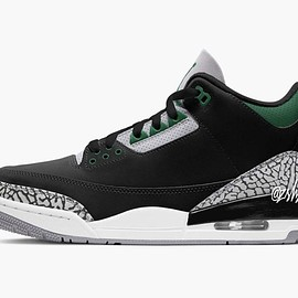 NIKE - Air Jordan 3 - Black/Pine Green/Cement Grey/White