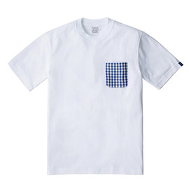 LOOPWHEELER - LW Tee Gingham check pocket Tee