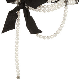 LANVIN - Faux pearl and crystal choker