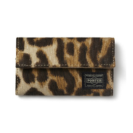 "HEAD PORTER - ""LEOPARD"" KEY CASE"