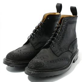 Tricker's × Paper Chest - Suede Full Brogue Stow Boot