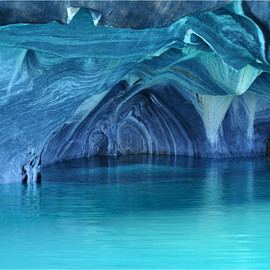 The Marble Cathedral of General Carrera Lake