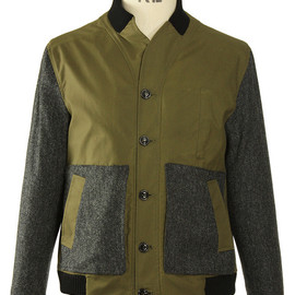 Oliver Spencer - PILOT JACKET FINE WAX OLIVE