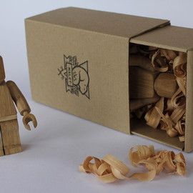 Malet - Wood-Carved Lego Guys by Malet Thibaut