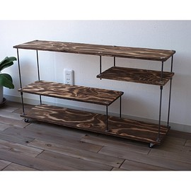 "wood iron shelf ""low type"""