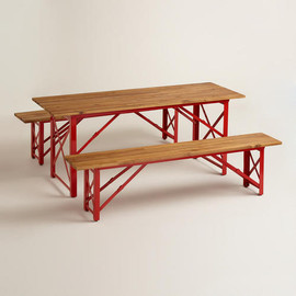 Red Beer Garden Outdoor Dining Collection
