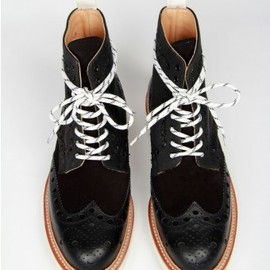 Nextdoor - GRENSON for theNextdoor---Fred Vibram---Black