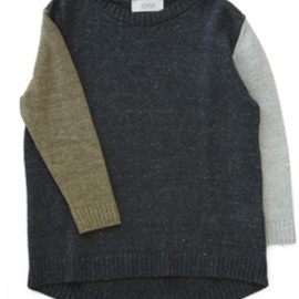 Objects Without Meaning - Mila Sweater (deepest blue/platinum/tan)