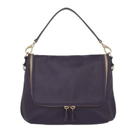 ANYA HINDMARCH - Maxi Zip Satchel - Dark Plum
