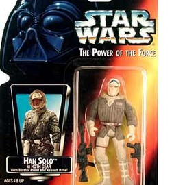 "kenner - STAR WARS Power of the Force Red Card 3 3/4"" Han Solo in Hoth Gear Action Figure"