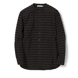 nonnative - TRAVELER SHIRT C/N OXFORD BORDER OVERDYED