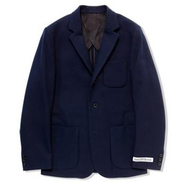 UNIVERSAL PRODUCTS - WOOL GABERDINE TAILORED JACKET[NAVY]