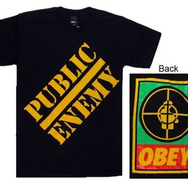 OBEY GIANT - Public Enemy by Obey Mens Black Tee Shirt