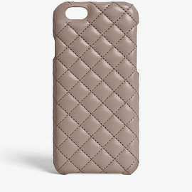 The Case Factory - iPhone Case Quilted Nappa Light Taupe