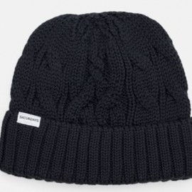 SATURDAYS SURF NYC - Cable Knit Beanie  black