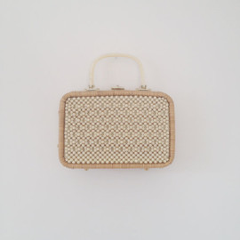 lippedlove on Etsy - vintage 1950s wicker beaded lucite handbag