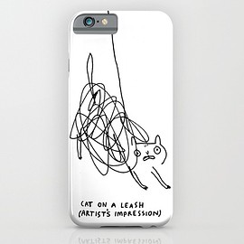 Cat on a Leash - Cat on a Leash iPhone & iPod Case
