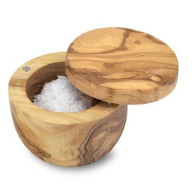 williams-sonoma - Olive Wood Salt Keeper