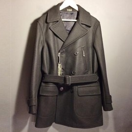 Pioneer Tailoring(WARP AND WOOF) - Type1930's WARDS Heavy Melton Coat (BLACK)