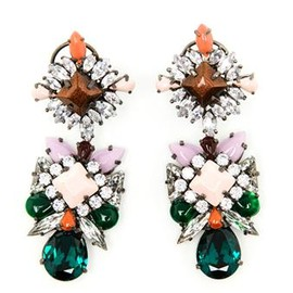 SHOUROUK - Blondie Crystal and Enamel Beaded Earrings