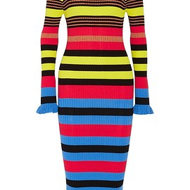 Opening Ceremony - Striped ribbed-knit midi dress