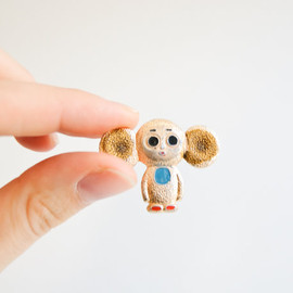 isantiik - Vintage Soviet Union Pin Button - Cheburashka - USSR - Metal Pin