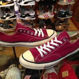 """converse - 「<used>70's converse CHUCK TAYLOR OX maroon""""made in USA"""" size:US11/h(30cm) 24800yen」完売"""