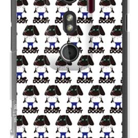SECOND SKIN - Doggy Runnin Pattern (クリア) design by Moisture / for HTC EVO 3D ISW12HT/au