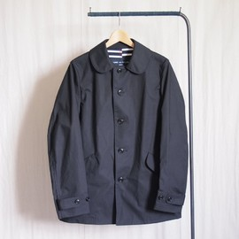COMME des GARCONS HOMME - 綿タイプライターボンディングコート #navy