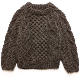 Needles - Athena Designs / Fishermans Sweater - Cropped / Beige