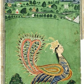 Mythical peacock with a woman's head, c. 1750 (viathesandiegomuseumofartcollection)