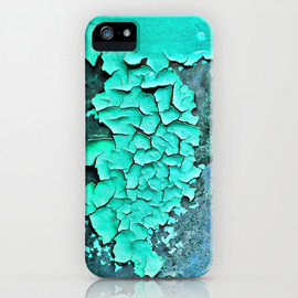 aqua paint iPhone & iPod Case