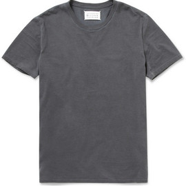 Maison Martin Margiela  - Overdyed Crew Neck Cotton T-Shirt