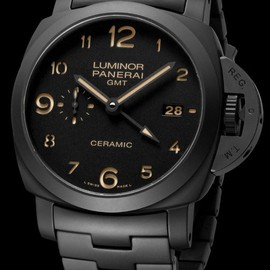 OFFICINE PANERAI - OFFICINE PANERAI tuttonero luminor 1950 3 days gmt automatic ceramica PAM00438