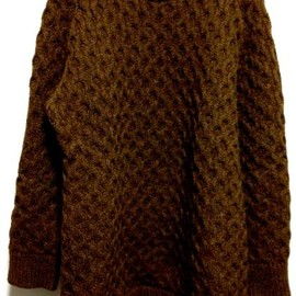 Maison Martin Margiela - knit like a honeycomb brown