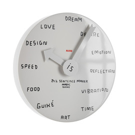 Alessi - 24h Sentence maker, Wall clock by marti guixe