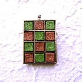 SouZouCreations - Green Tea And Milk Chocolate Pendant Nama Choco