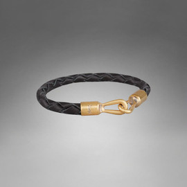 Yves Saint Laurent - Braided Bracelet in Black Leather