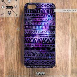 by csera - Galaxy iPhone 5 Case, Galaxy iPhone 4 Case, Aztec iPhone 4S Case, Tribal iPhone Case, Silicone Rubber Case, Plastic iPhone Case