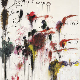 Cy Twombly - Quattro Stagioni: AUTUNNO, 1995, acrylic, oil, crayon and pencil on canvas