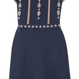Tory Burch - Nell off-the-shoulder embroidered cotton mini dress