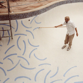 David Hockney - painting pool
