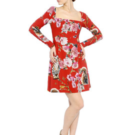 DOLCE&GABBANA - FW2014 FLORAL PRINTED VISCOSE CADY DRESS