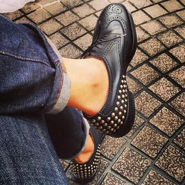 uniform experiment - 2013 S/S Studs Wing Tip Shoes